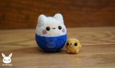 I made these as part of an Etsy order. Thought I'd do another Finn and Jake photo, except this time only Jake is a baby ♥ Please check out my Etsy shop ♥ www.etsy.com/shop/x...