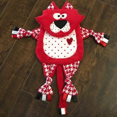 Cat Tag Blanket, Red Kitty Lovey, Woobie, Minky Blanket, Baby, Toddler Blanket Ribbon Cat Toy, Crib Sensory Toy, Blanket Animal, Tag Blanket