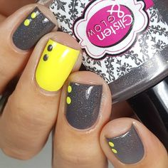"302 Likes, 10 Comments - Jessica Byles (@lalalovenailart) on Instagram: ""Double sided dots 💛 a la @mcpolish . . . @glistenandglow1 ""Quick Step in Queens"" part of The 5…"""