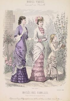 Victorian Fashion Plate 1880.  Ah, the natural form era.  Love it, miss it.....