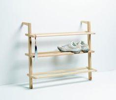 Wandregale - SCHUHREGAL GASTON - ein Designerstück von Wohnkultur-Berndt bei DaWanda