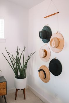 How To Create a Relaxing Bedroom Sanctuary + Bedroom Decor Ideas : DIY Hat Wall Display Organizer - Gypsy Tan Your bedroom is supposed to be your retreat from the world – sharing 7 easy tips so you can create a relaxing bedroom sanctuary in your own home! Decoration Entree, Decoration Bedroom, Diy Home Decor, Diy Wall Decor For Bedroom, Easy Wall Decor, Bedroom Ideas, Photowall Ideas, Diy Casa, Home Decor Inspiration