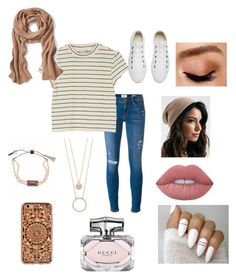 """""""Fall Time"""" by rdesena on Polyvore featuring Frame, Monki, Converse, Kate Spade, Lime Crime, Avon, Lonna & Lilly, Felony Case, Banana Republic and Gucci"""