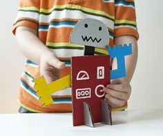 Incredible cardboard robot idea from MadeByJoel