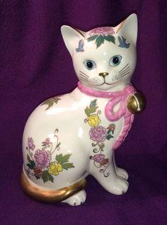 1988 Franklin Mint Royal Kitten of Prosperity Hand Painted Cat Fine Porcelain | eBay