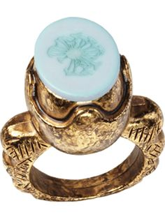 Large roman stamp ring by Maison Scotch Funky Jewelry, Metal Jewelry, Jewelry Rings, Jewellery, Birds Online, Roman Fashion, Blue Rings, Scotch Soda, Latest Fashion