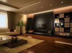 A dark colour tv unit in the living room. Always make it look comfortable