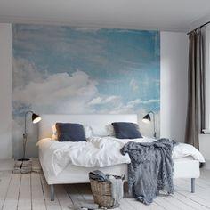 Poster XXL nuages opaques et ciel bleu – Rebel Walls – Au fil des Couleurs