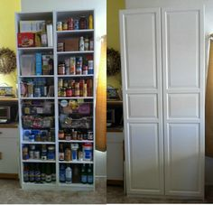 IKEA Pax - turn the clothing cupboard into a pantry with drawers