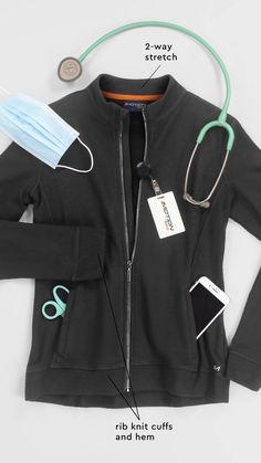 Scrubs Outfit, Scrubs Uniform, Cute Scrubs, Scrub Jackets, Scrub Life, Medical Scrubs, 2 Way, Nike Jacket, Flexibility