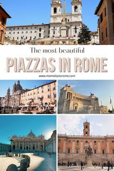 The most beautiful piazzas in Rome: map and photos of the most beautiful squares in Rome Italy Travel Tips, Rome Travel, Us Travel, Family Travel, Rome Map, Top Europe Destinations, Rome Attractions, Rome Hotels, European Destination