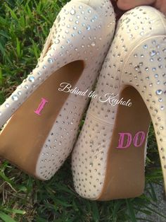 I Do Country Carnival Script Heel Decal #decal #just #married #mint #heels #sexy #boudoir #photography #wedding #bride #bridal #bling #sparkle #sticker #vinyl #decal #country #cowgirl #boots