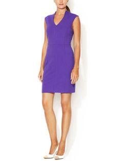 V-Neck Ponte Sheath Dress from Wardrobe Refresh: Spring Workwear on Gilt