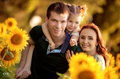 Семейная фотосессия в подсолнухах