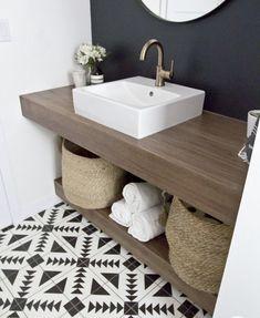 Room Tiles, Bathroom Floor Tiles, Modern Bathroom, Downstairs Bathroom, Modern Vanity, Bathroom Fixtures, Tips And Tricks, Bad Inspiration, Bathroom Inspiration