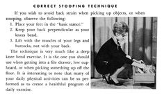 Lady Lessons • Correct Stooping Technique