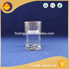 Alibaba gold supplier personalized square bottom economic clean wine glass tumbler with lid
