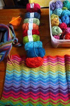 Lovely ripple yarn from attic24