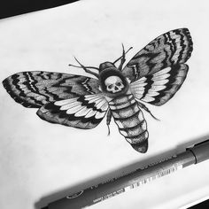 Dead head moth  #blacktattooart #blxckink #btattooing #blacktattooing #blackworkers #blackworkerssubmission #homemadetatts #darkartists #dotwork #dots #iblackwork #instinctsubmission #tattoo #ink #design #art #artwork #me #pencil #tattooing #draw #drawing #lines #linework #inkjunkeyz #oldschool #geometric #onlyblackart #engraving