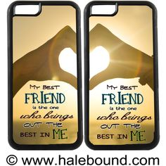 BEST FRIEND Heart IPhone 6s, Samsung Galaxy S6 Edge, Note 5 and many... ($27) ❤ liked on Polyvore featuring accessories and tech accessories