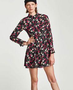 ZARA - WOMAN - FLORAL PRINT SHIRT DRESS
