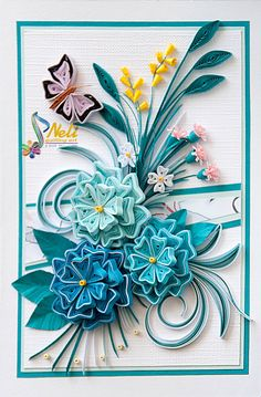 Neli is a talented quilling artist from Bulgaria. Her unique quilling cards bring joy to people around the world. Neli Quilling, Paper Quilling Cards, Paper Quilling Flowers, Paper Quilling Designs, Quilling Craft, Quilling Patterns, Quilling Ideas, Paper Art, Paper Crafts