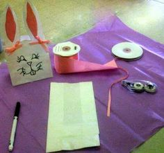 Draw ears on the top ½ of a 4 LB White SOS bag Draw a bunny face on the lower half of the bag . How To Draw Ears, Bunny Face, Treat Bags, Easter, Treats, Holidays, Diy, Goodie Bags, Sweet Like Candy
