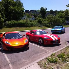 Amazing Trio hanging out in the car park! #Fastcars