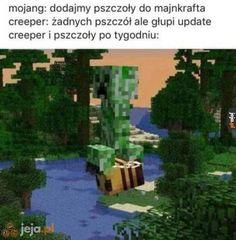 Jednak jakoś się przyjęły Mojang Minecraft, Minecraft Memes, Best Memes, Dankest Memes, Funny Memes, Hahaha Hahaha, Polish Memes, Gaming Memes, Wtf Funny