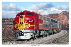 The Super Chief passenger train was the flagship of the Atchison, Topeka and…