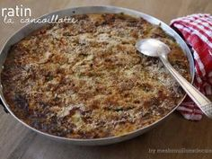 Gratin de courge spaghetti, poireaux & champignons, à la concoillotte • Hellocoton.fr