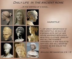 Ancient Rome, Beautiful Outfits, Novels, Statue, History, Hair Styles, Life, Art, Hair Plait Styles