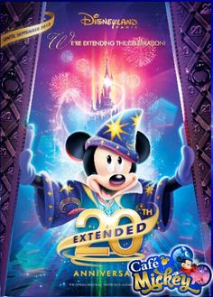 disneyland 20th birthday postcard | 20e Verjaardag Disneyland Parijs wordt VERLENGD!