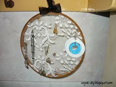 Tamborkowy organizer na biżuterię