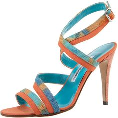 Colorblock Lizard Sandal