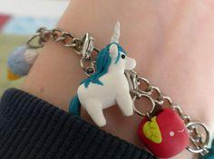Polymer Clay Unicorn Charm by claypotater on Etsy