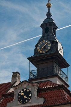 The Maisel Hebrew clock in Prague, Czech Republic