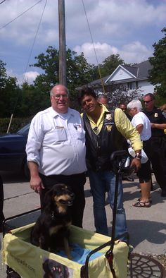 Me, Stan Kass of Skylark Vending, and Erik Estrada (aka Ponch) at Harley Davidson Rally, Milwaukee, WI 2013