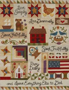 Live Simply Quilt-this on goes on my quilts-to-make list. Is there a pattern available?