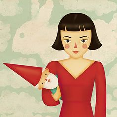 Amelie Poulain by Natalia de Frutos Ramos, via Behance