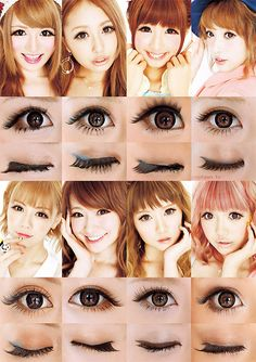 Girls Can Be Cute ♥POPTEEN'S MODEL EYE MAKE U