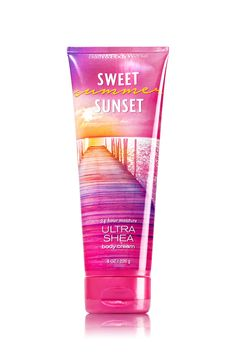 Bath and Body Works Ultra Shea Cream Sweet Summer Sunset 8 Ounce Full SIze Retired Fragrance Bath N Body Works, Body Wash, Bath And Body, Perfume Body Spray, Ultra Shea Body Cream, Pink Perfume, Summer Body, Facial Skin Care, Smell Good