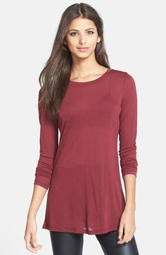 Free shipping and returns on Leith Long Sleeve Sheer Tunic at Nordstrom.com. An essential long-sleeve tee is crafted from an ultrasoft, lightweight fabric that maintains a sense of trendy sheerness.