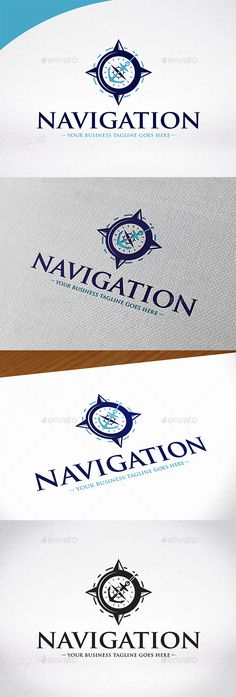 Nautical Navigation Logo Template by BossTwinsMusic - Three color version: Color, greyscale and single color. - The logo is 100% resizable. - You can change text and colors very easy