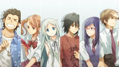 Ano Hi Mita Hana no Namae wo Bokutachi wa Mada Shiranai一or, for short, Anohana. Another anime that makes you take the feels trip in barely more than 10 episodes. Anime Triste, Vocaloid, Sad Anime, Manga Anime, Anime Art, Anohana Anime, Fullmetal Alchemist, Aniplex Of America, Sf Wallpaper