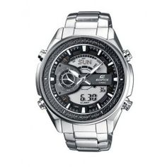 Men's Wrist Watches - Stainless Steel Edifice Chronograph Analog Digital Black Dial *** Visit the image link more details. Sport Watches, Cool Watches, Watches For Men, Wrist Watches, Casio Edifice, Verona, Daniel Wellington, Emporio Armani, Luxury Watches