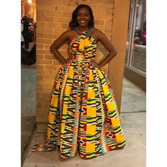 Long Ankara Dresses, African Prom Dresses, Ankara Gowns, African Dresses For Women, African Attire, African Fashion Dresses, African Outfits, Ankara Fashion, African Women
