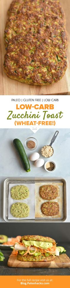 This Low-Carb Zucchini Toast is thick, delicious and takes less than 40 minutes to make! Get the full recipe here: https://paleo.co/zucchinitoast