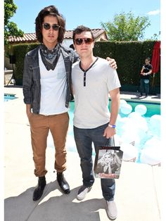 Avan Jogia and Josh Hutcherson at the Coachella Guess Hotel Smoke & Mirrors Party.