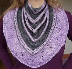 Sgiach Shawl - free pattern.  Charted and written instructions, fingering or worsted weight yarn.